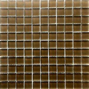1-034-X1-034-Mocha-Glass-Mosaic-Tile-Matte-Frosted-Finish-Backsplash-Shower-Wall-Spa