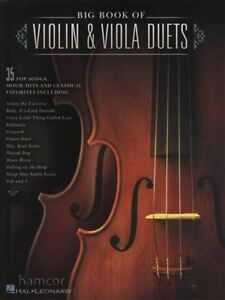 Big Book Of Violin & Viola Duos Sheet Music Book Score & Parts-afficher Le Titre D'origine