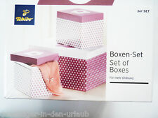 TCM Tchibo 3 x Deko Boxen Ordnungsboxen Ordnungsbox Aufbewahrung Box Karton