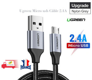 Cable-Chargeur-Micro-USB-2-4A-Charge-Rapide-Samsung-HUAWEI-Sony-LG-1-5M-Ugreen