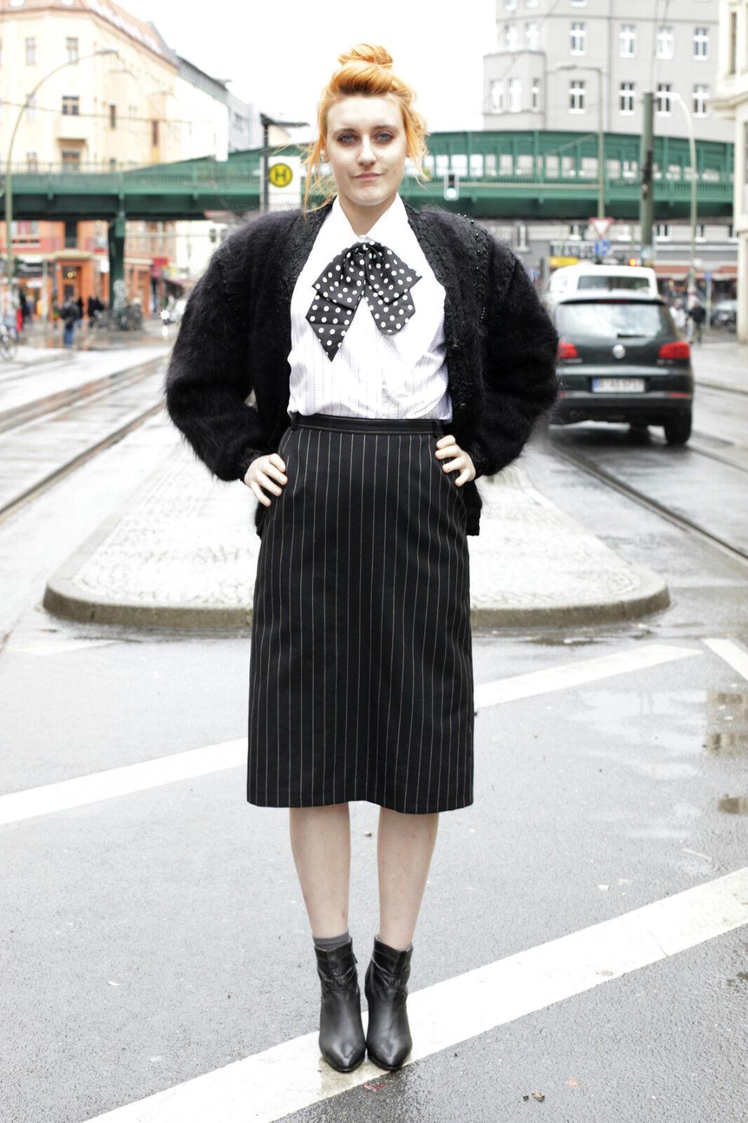 VEB Dessauer fabbrica abbigliamento abbigliamento abbigliamento donna gonna skirt 80´s True Vintage donna 80er nero f56049