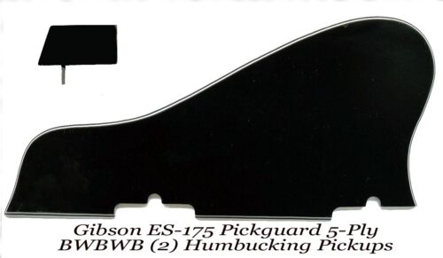 ES-175 Pickguard 1958 5-ply Black W//Mounting Blocks made for Gibson Project NEW