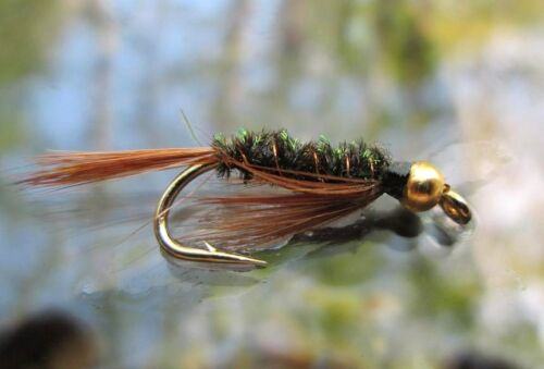 Gold Head Nymphs Gilchrist FLIES 3 pieces of a size Diawl Bach