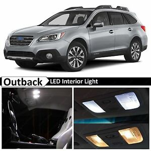 Details about Fits 2015-2019 Subaru Outback Full White Interior LED Lights  Bulbs Accessories