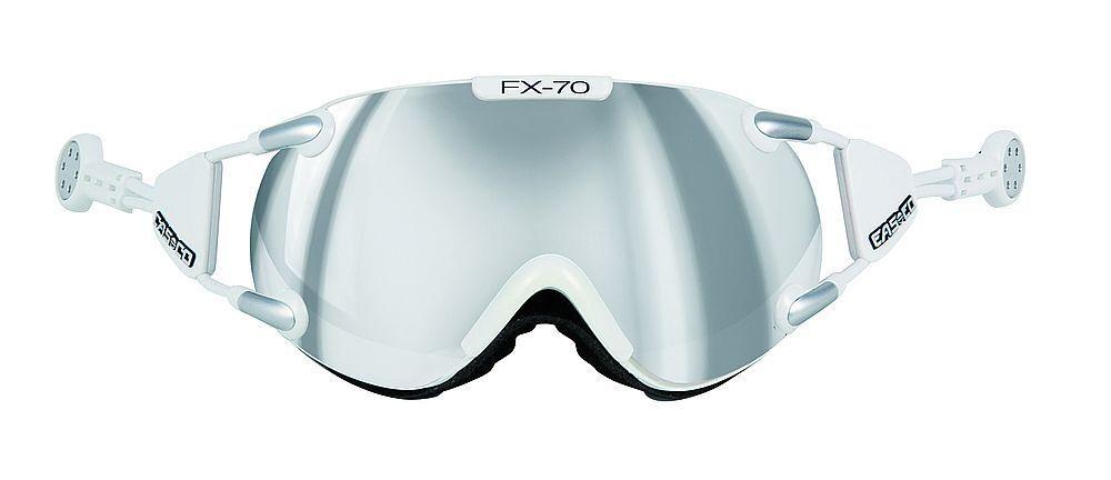 FX-70 Carbonic Skibrille Weiss Silber 5017 M von Casco mit Magnet Link