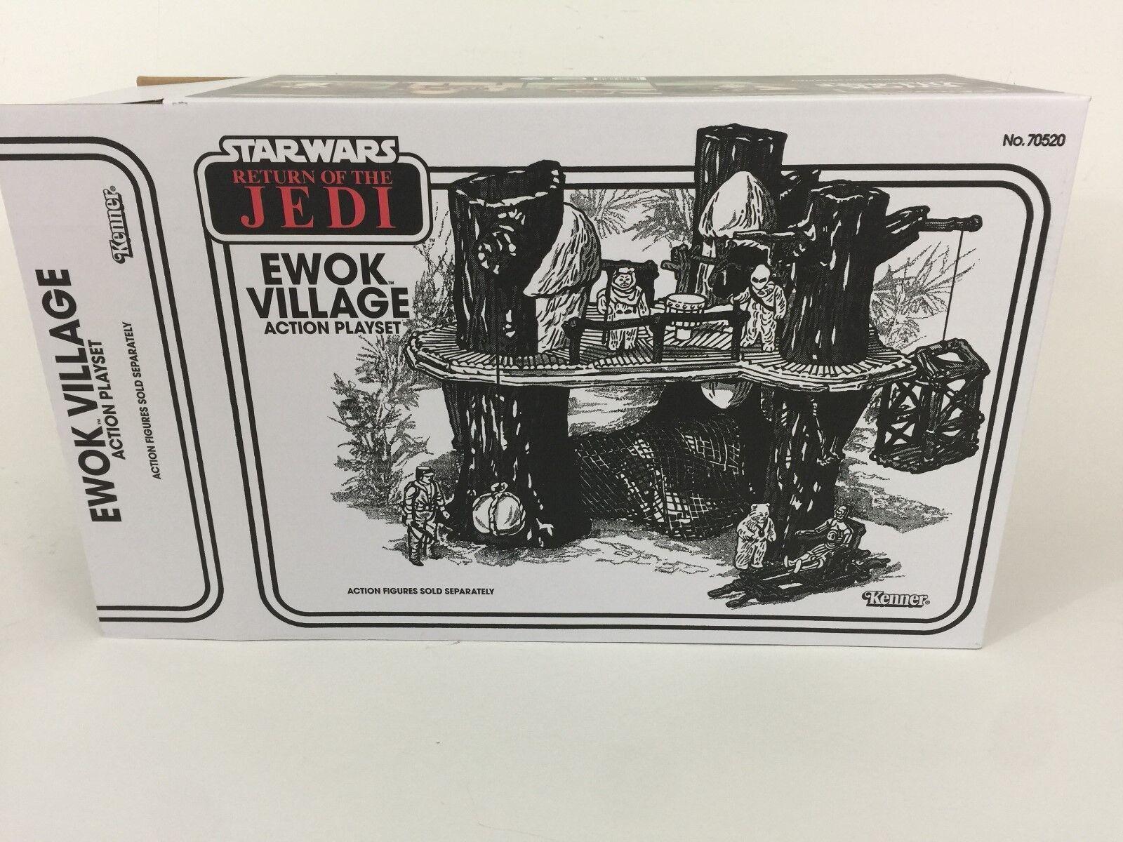 Replacement vintage star wars redj ewok village box box box and inserts a4d4d4