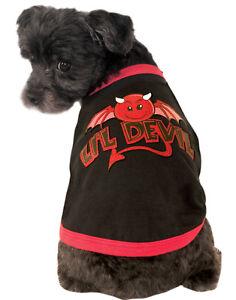 Little Devil Animali Domestici Cane Gatto Nero Rosso Costume Ringer