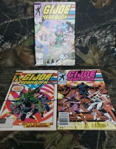 Vtg-Marvel-GI-Joe-Yearbook-Comic-Lot-039-s-2-3-4
