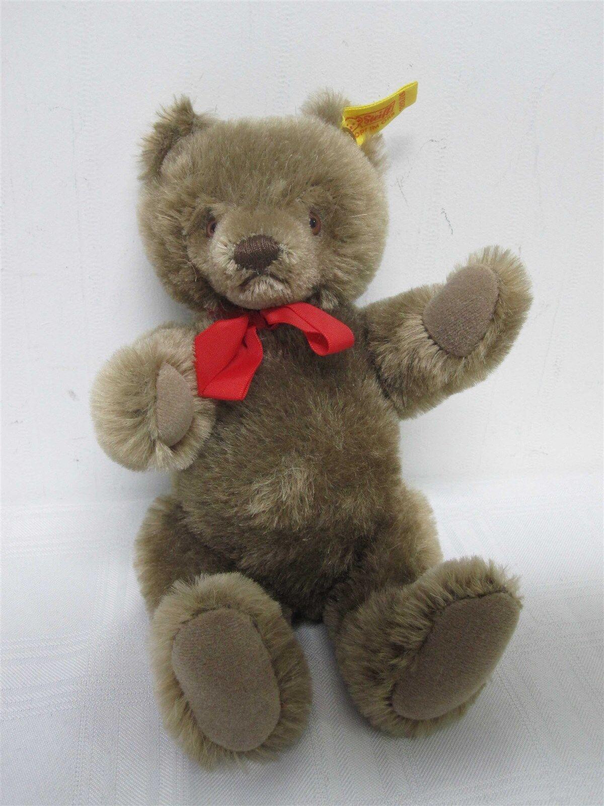 VINTAGE GERMAN STEIFF MOHAIR LIGHT braun TEDDY BEAR 0202/26  9