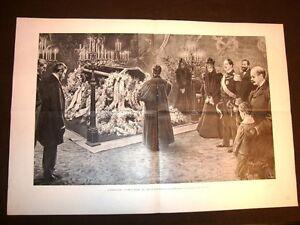 Friedrichsruh-nel-1898-Ufficio-funebre-Otto-von-Bismarck-presente-Guglielmo-II