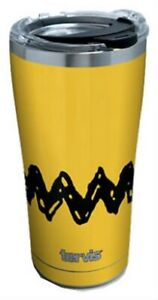 Tervis Peanuts Charlie Brown Stripe 20 oz. Stainless Tumbler Travel Cup Mug USA
