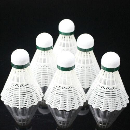 6Pcs Plastic Shuttlecocks Leisure Balls Badminton Fitness Outdoor Sports Games