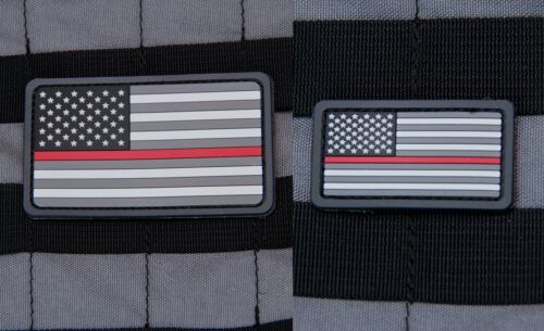 Mil Spec Monkey MSM Thin Red Line American Flag PVC Patch-Mini or Regular