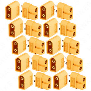 10-Pairs-XT60-Bullet-Connectors-Gold-Plated-RC-Lipo-DIY-Plug-Power-Battery-XT-60