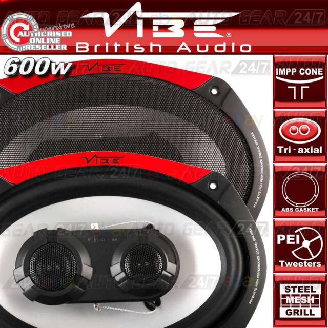 """Vibe Audio Pulse 69-V4  6""""x9"""" 600w Car Van Parcel Shelf Tri-axial Speakers Set"""