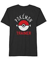Pokemon Trainer T-shirt Gotta Catch 'em All Graphic Tee Black Mens Size 3xl