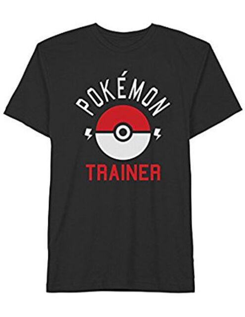 5c9bbb42 Pokemon Trainer T-shirt Gotta Catch 'em All Graphic Tee Black NWT Mens Size