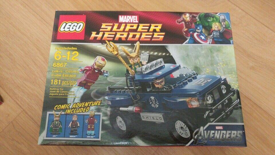 LEGO 6867 MARVEL SUPER HEROES : IRONMAN LOKI'S COSMIC CUBE ESCAPE, SEALED box