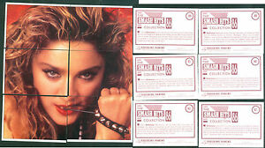 Madonna-19-5x20-5-cm-6-Puzzle-Stickers-Brand-New-n-88-93-Notes-on-the-Back