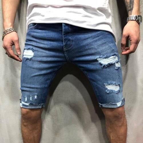 Señores bermudas jeans short Capri pantalones verano ocio Skinny brevemente pantalones Jeans Hose