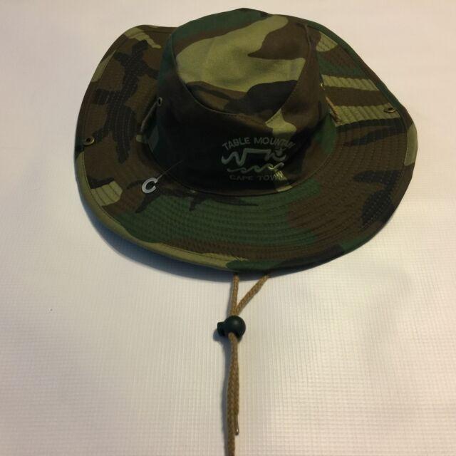 NWOT Mens Table Mountain South Africa Cape Town Camo Bucket Hat Cap 57cm  Medium c39174c8582