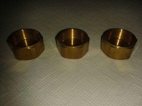 """Messing Gewindefitting Kappe Blindkappe Verschlusskappe 3//4/"""""""