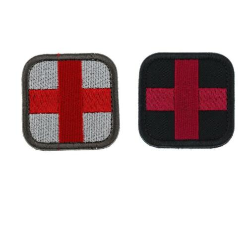 2 Pcs Embroidered Military Tactical Paramedic Medic  Patch 2x2inch