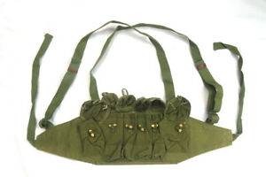 Vietnam-War-Chinese-Army-Canvas-Type-79-Chest-Rig-Ammo-Pouch-Mag-Bandolier