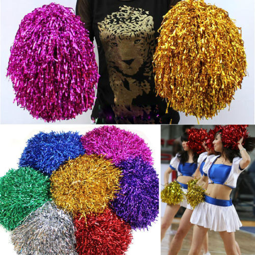 Cheerleader Pom Poms Waver Fancy Dress Costume Pompoms Dance Hen Party Decor WU