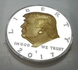 Donald Trump Silver & Gold President Eagle 2017 USA God