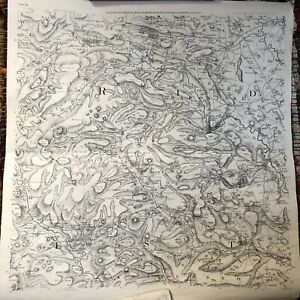 Vintage Double Sided Map Bedale Masham Middleham Hawed Askrig Settle Crafts 1775