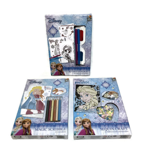 New Disney Frozen Activities Set Magic Scribble Elsa Olaf Anna Hans Xmas Gift
