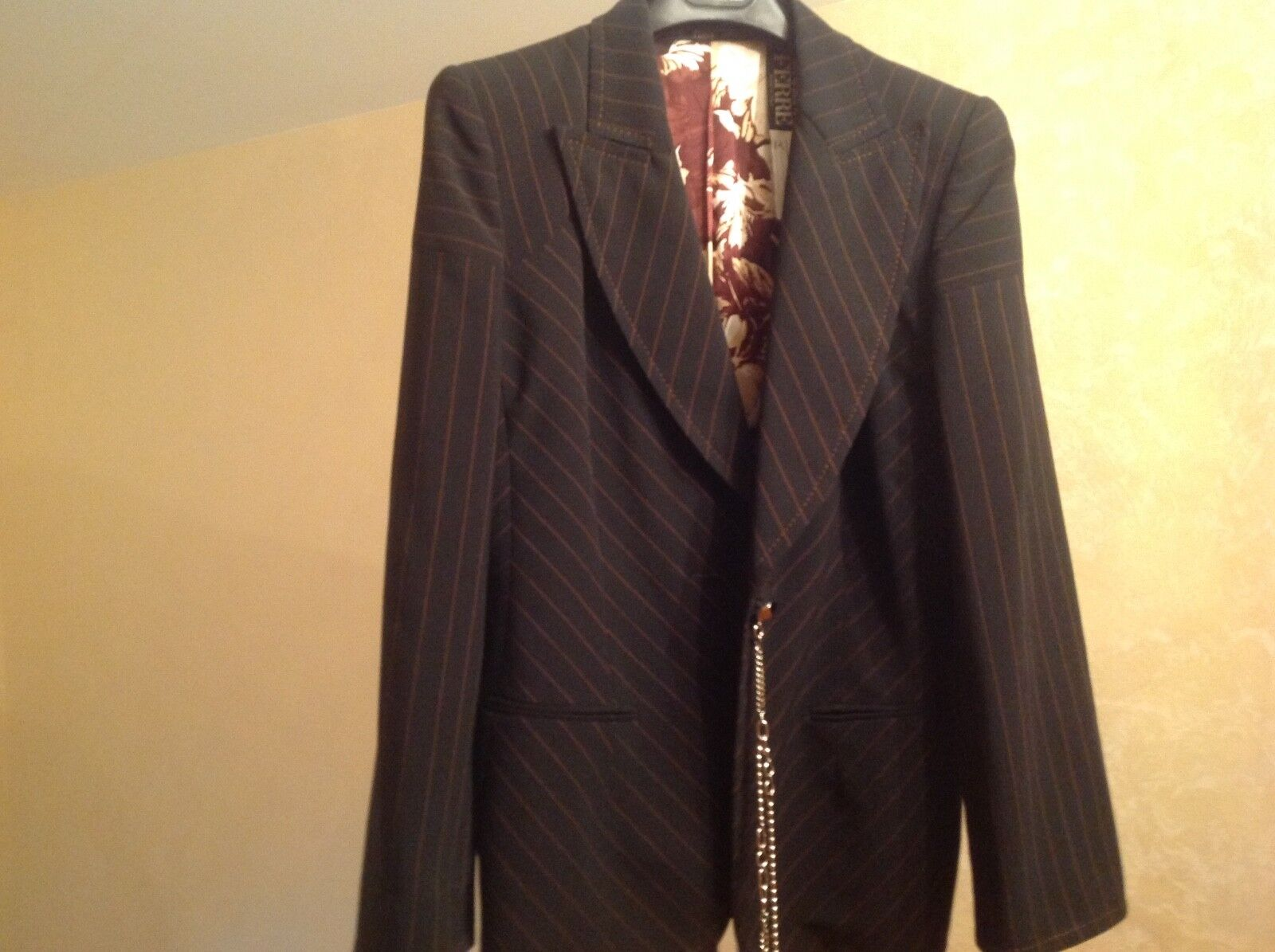 Giafranco Ferre Womens Blazer Brown New SZ 44 Made in