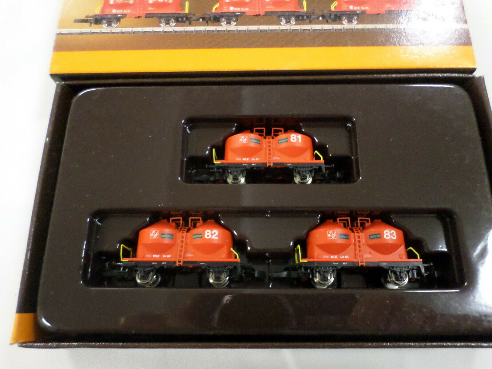 Marklin 86662 Z Scale  WLE Silo Container 3 Car Set