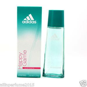 quiero Hormiga Berenjena  Happy Game by Adidas 1.7 oz , 50 ml Eau De Toilette Spray for Women  3607345532127   eBay