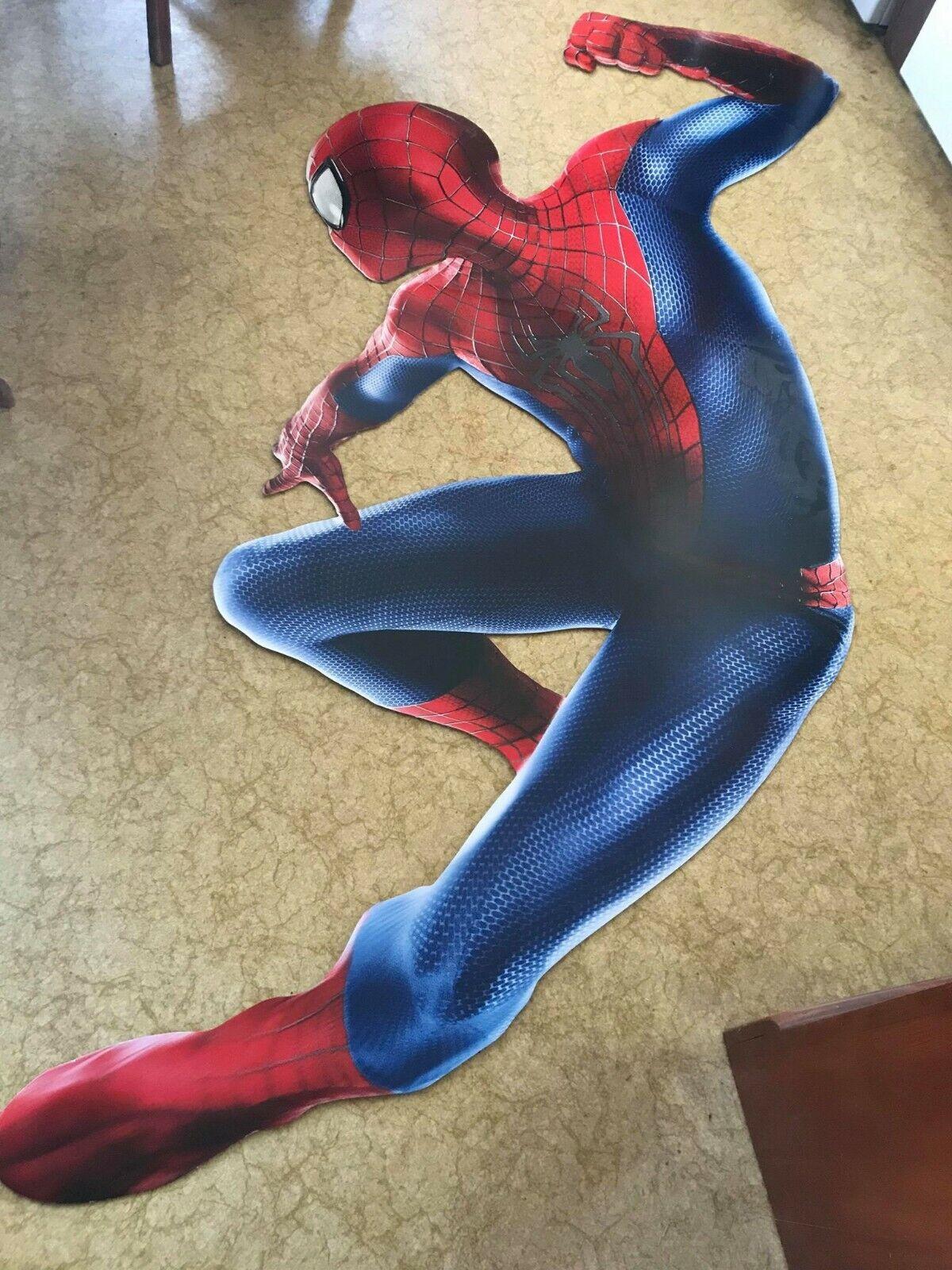 SPIDERMAN SUPER SUPER SUPER HERO CARDBOARD CUTOUT (about 5 feet) MARVEL COMICS DISPLAY MOVIE 79b7f8