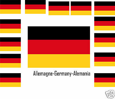 Assortiment lot de 25 autocollants Vinyle stickers drapeau Allemagne-Germany