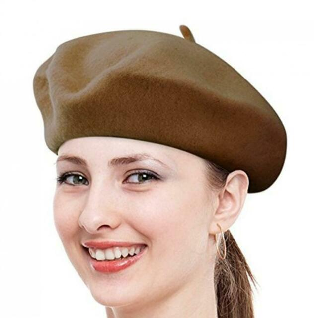 Opromo Women Girl Vintage French Wool Beret Hat Warm Classic Artist Hat 11-Color