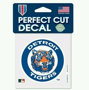 Detroit Tigers Perfect Cut Cooperstown Retro Decal 4 X4 Windows Phone Laptop Ebay