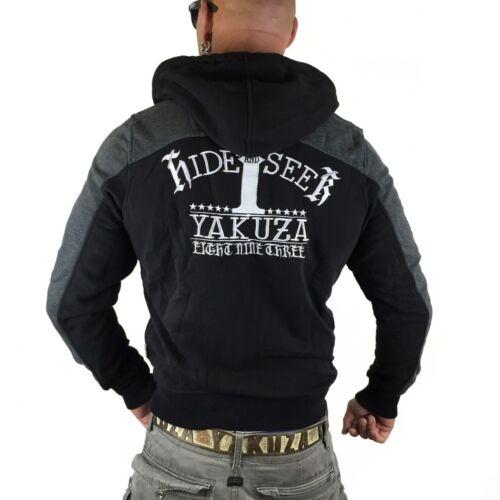 hide And Jacke Black Kapuzenjacke Yakuza Hzb Darkgrey Seek 8036 Melange PB0wqAw