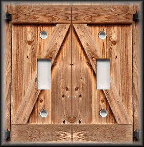 Light Switch Plate Cover Country Home Decor Wood Barn