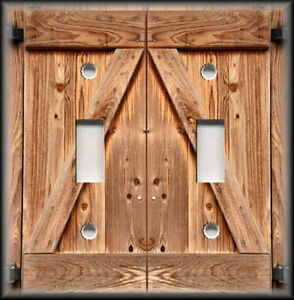 Peachy Light Switch Plate Cover Country Home Decor Wood Barn Door Image Largest Home Design Picture Inspirations Pitcheantrous