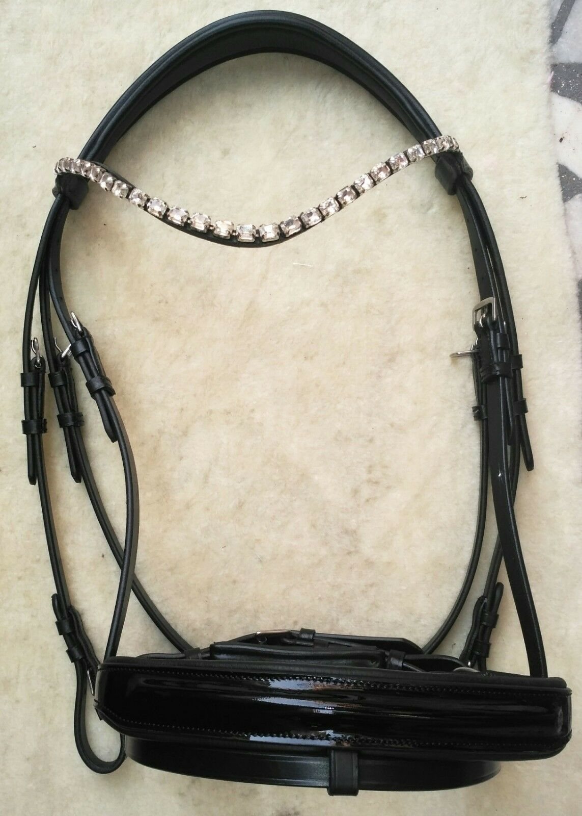 Patent Leather Bling Dressage  Bridle .  40% off