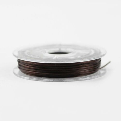 Bobine de fil Nylon Elastique 0,8mm Marron environ 10m creation bijoux Bracelet