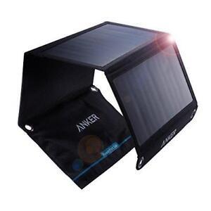 Anker Universal Solar Handy Tablet Ladegerät Powerbank 2-Port USB Solarladegerät