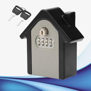 Aluminium-Schluesselsafe-Schluesseltresor-Schluesselbox-Keygarage-mit-Zahlenschloss