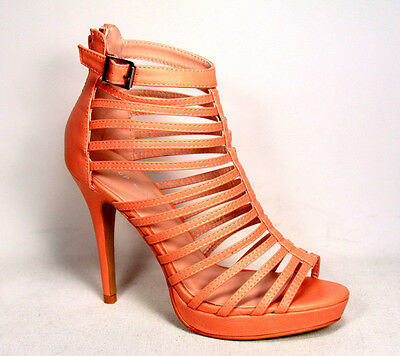 Sexy Fashion Lace Up Zipper Strappy Caged Open Toe High Heel Sandals 5 - 10 NEW
