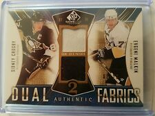 2009/10 SP Game Used Crosby/Malkin Dual Authentic Fabrics Patches #'d/25