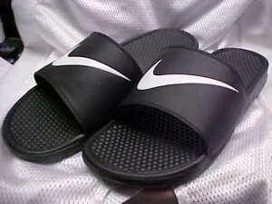 d2e4c7001356 La foto se está cargando Nike-Benassi-Swoosh -Para-hombres-Zapatos-Sandalias-Ducha-