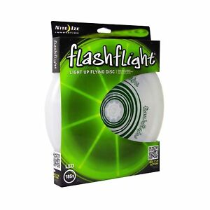 Nite-Ize-Flashflight-LED-Light-Up-Flying-Disc-Green-Ultimate-Glow-Frisbee-185g